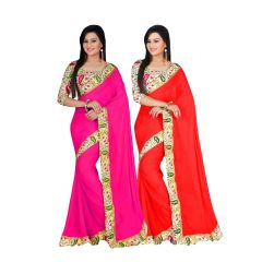 Bhuwal Fashion Multicoloured Bhagalpuri Silk Saree Combos(combo217)