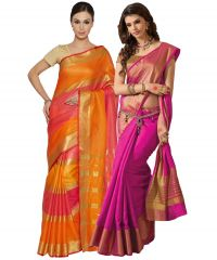 Buy 1 Get 1 Buy 1 Get 1 Free Bhuwal Fashion Cotton Silk Sarees (code- Combo Bf288)