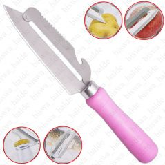 Rimei Multi-use Peeler Stainless Steel Fruit Cutter Chef Kitchen Cutlery Knife-10