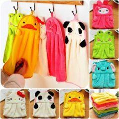 Baby bath towels - Cute Animal Microfiber Kids Children Cartoon Absorbent Hand Dry Towel