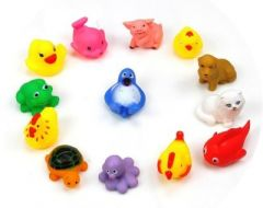 Kuhu Creation Baby Swimming Sounding Bath Toy - 13 Pieces