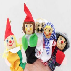 Kuhu Creation Wooden Career Professionals Finger Puppets Multicolor