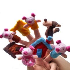 uhu Creations Finger Puppets Three Little Pig Story - Set of 8