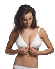 V Star Combed Cotton Front Open Bra- Spring