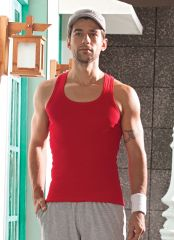 V Star Mens Cotton Stylish And Versatile Racer Back Vest