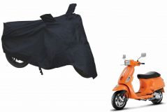 Spidy Moto Sporty Champion Bike Body Cover Water proof Black - Piaggio Vespa S