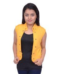 SBY11012Snoby Yellow Half Fleece Jacket (SBY11012)