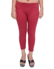 Snoby Red 3 3/4 Cotton Legging SBY2049