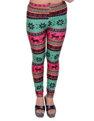 Snoby Strips Print Multicolor Leggings SBY2062