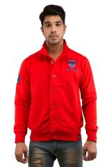 Snoby Red color Button Jacket (SBY9024)