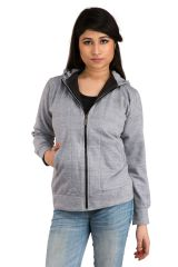 Grey Double zipper hoody jacket SET_1041)