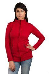 Red self designed jacket (SET_1044)