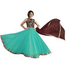 Fashionuma Bollywood Designer Georgette Anarkali Salwar Suit F1094