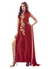 Fashionuma Bollywood Designer Bangalori Silk Party Wear Straight Salwar Sui F1079