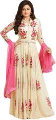 Fashionuma Bollywood Replica Stylish Designer  Georgette Anarkali Semi Stitched Salwar suit BIPO-16