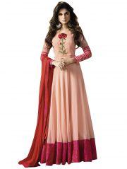 Designer Georgette   Stylish Anarkali Baollywood Replica Salwar Suit F1096