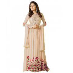 Fashionuma Indian Stylish Designer Bollywood Gerogette Embroidered Anarkali Salwar Suit F1065