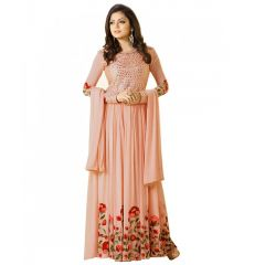 Fashionuma Indian Stylish Designer Bollywood Gerogette Embroidered Anarkali Salwar Suit F1047