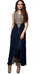 Fashionuma Indian Designer Blue Color  Embroidered Straight Salwar Suit SHIV-806