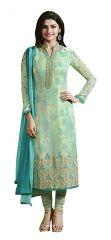 Fashionuma Designer Satin Embrodered Semi Stitched Bollywood Replica Salwar Suit SHIV-837