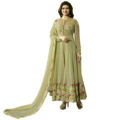 Fashionuma Indian Stylish Designer Bollywood Replica Gerogette Embroidered Anarkali Salwar Suit F1101