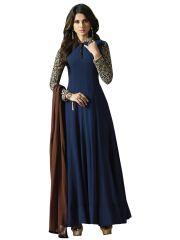 Fashionuma Ethnic Designer Georgette Bollywood Replica Anarkali Salwar Suit F1091