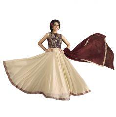 Fashionuma Bollywood Designer Georgette Anarkali Salwar Suit F1093