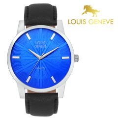 Louis Geneve Watches - Louis Geneve  Blue Genuine Leather watch for men_(Product Code)_LG-MW-B-BLUE-031