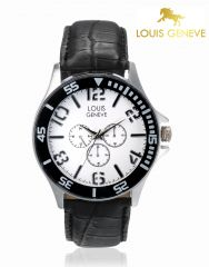 LOUIS GENEVE Mens Wrist Watch_LG-MW-WBLACK-026