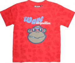 Mankoose T-shirt For Boys Short Sleeve Round Neck Red Color Age 6 - 7 Years