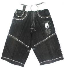 Mankoose Capri- Kids Halfpant/ Three-fourth/Bermuda Black Size-4 (4 - 5Yr)