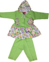 GIRL Dress- FROCK With Hood & Leggings- Green Color Size-'3'