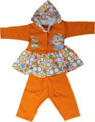 GIRL Dress- FROCK With Hood& Leggings- Orange Color Size-'1'
