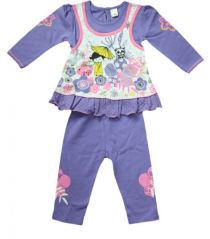 FROCK With Leggings 6-12 Month BABY GIRL- Purple& White Color Size- '1'