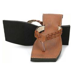 Great Art Men Fashionable Rajasthani Handmade Brown Ethnic Silsila Leather Flats Chappal 278