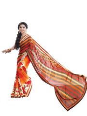 Ridham Fashions Multi Colour Georgette Bollywood Replica Designer Sarees 3603-M