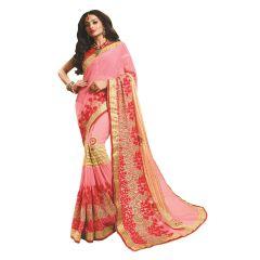 Ridham Fashions Multi Color Georgette Designer Saree 8472A