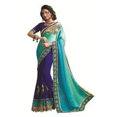 Ridham Fashions Multi Color Georgette Designer Saree 8476A