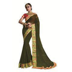 Ridham Fashions Multi Color Georgette Designer Saree 8484B