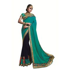 Ridham Fashions Multi Color Georgette Designer Saree 8486B