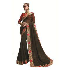 Ridham Fashions Multi Color Georgette Designer Saree 8488B