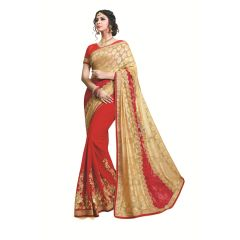 Ridham Fashions Multi Color Georgette Designer Saree 8553