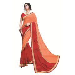 Ridham Fashions Multi Color Georgette Designer Saree 8555