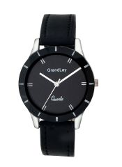 GRANDLAY GL-1007 BLACK ANALOG WATCH FOR WOMEN