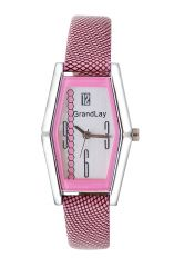 GRANDLAY GL-1010 WHITE / PINK ELEGANCE ANALOG WATCH FOR WOMEN