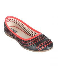 Indilego Black And Red Patent Leather Flat Women Bellies (Product Code - Indilegobrdbk109-119)