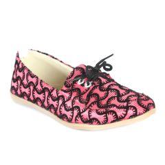 Indilego Women'S Pink Fabric  Shoes (Product Code - Ilegoshlpk90)