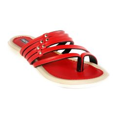 Indilego Women'S Slippers Flat-Red (Product Code - Ilegoslfred75)