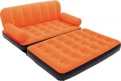 Bestway PVC 3 Seater Inflatable Sofa (Color - Orange)