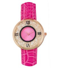 FAP Analog Crystal Inside Pink Colour Womens Watch